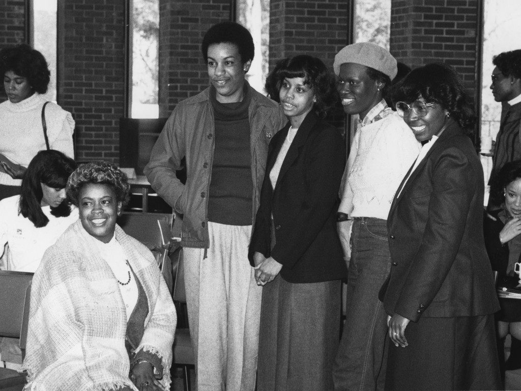 Black Alumnae pose for a photo