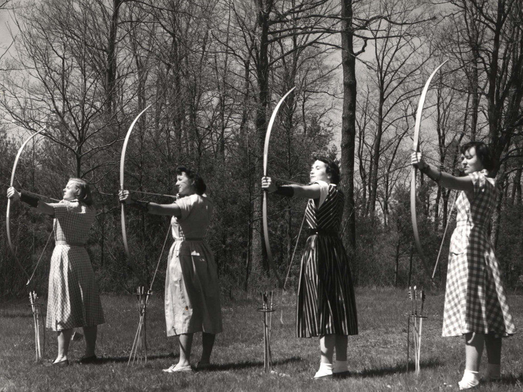 Students Practicing Archery