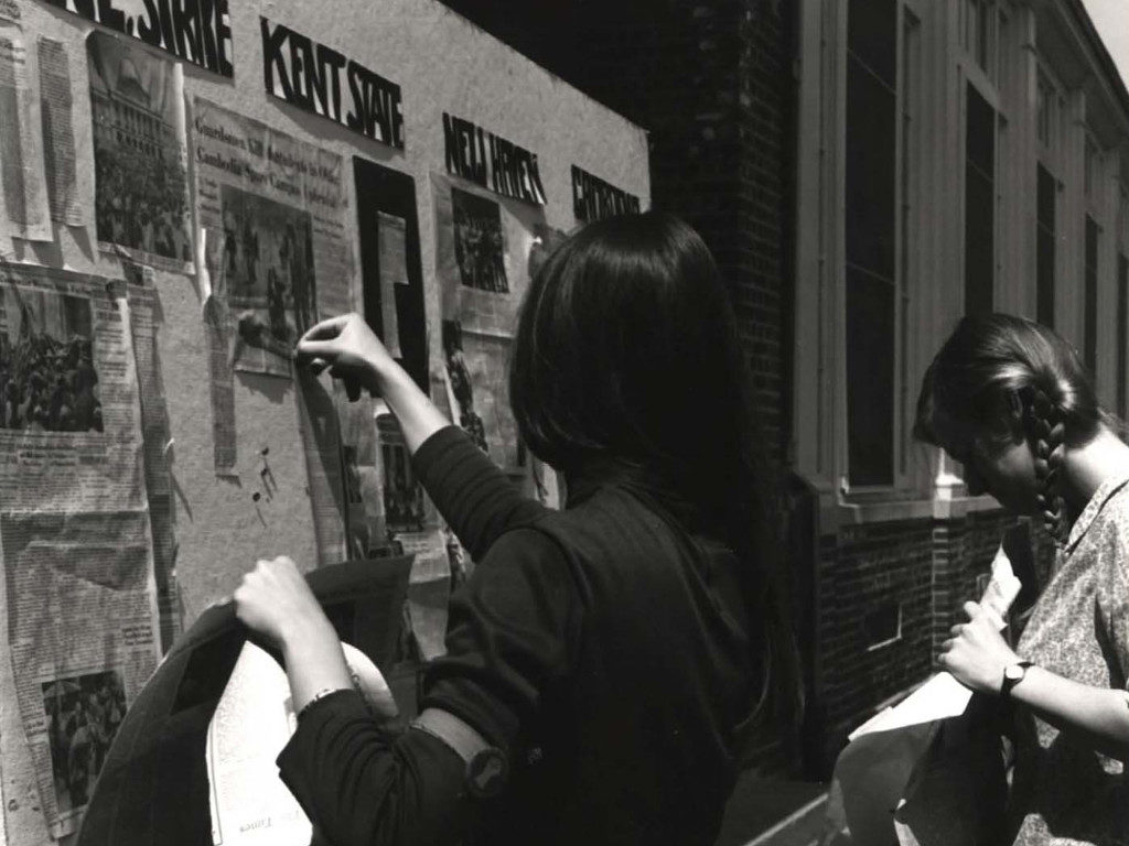 Students Hang Posters Announcing Strike