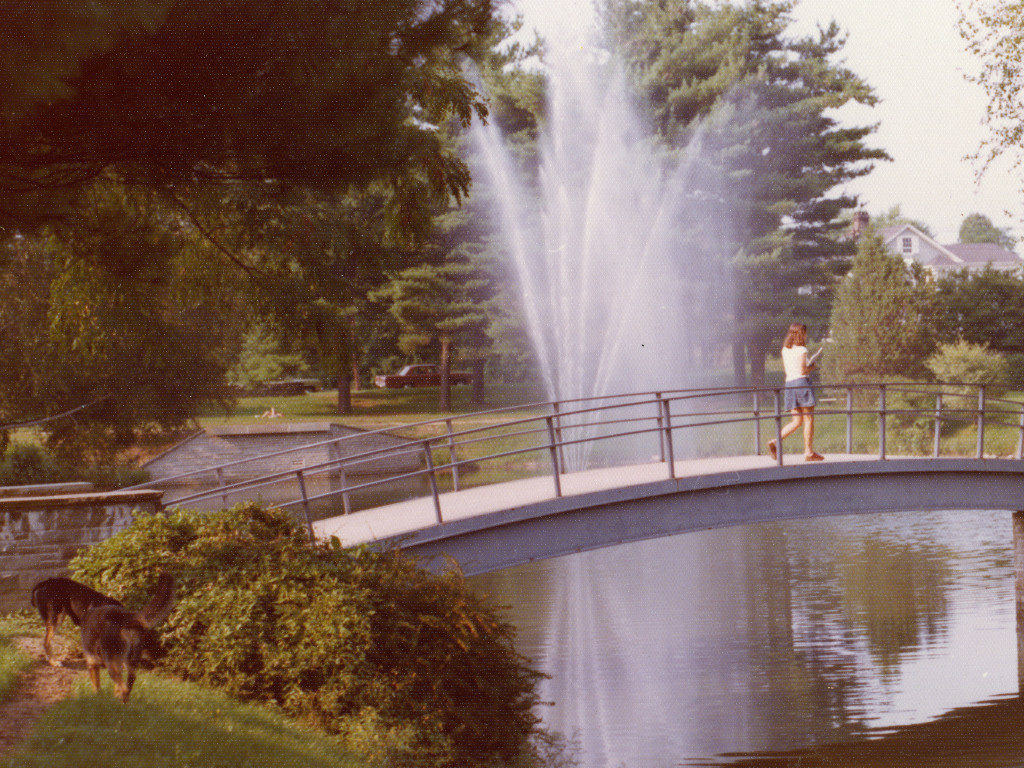 Peacock Pond Bridge and Fountain