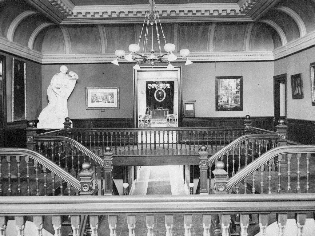The Alumnae Gallery and grand staircase
