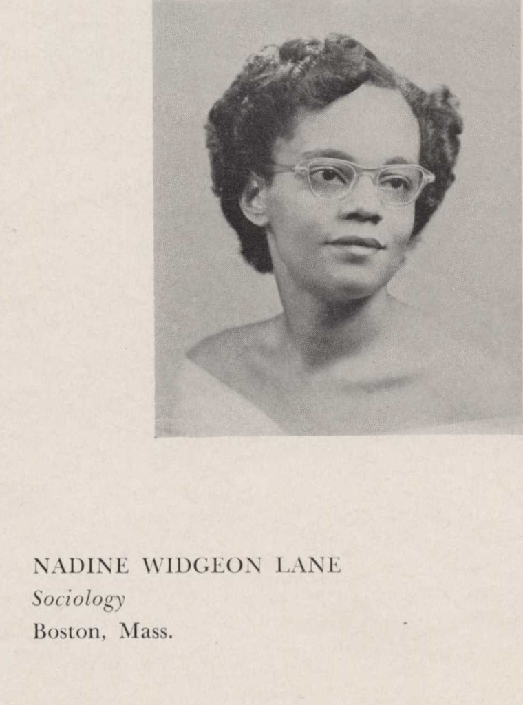 Nadine Widgeon Lane, Sociology, Boston, Mass.